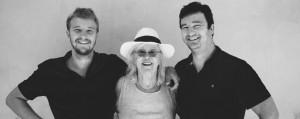 Béatrice Althoff et ses fils, Robin et David